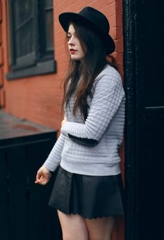 nicoleloher:  RecentlyClub Monacolaunched their newCollectionand asked me to be apart of the fun. I got to style and model a few of my favorite pieces near their Bleecker St. store in the West Village. Seeing that Club Monaco is one of my favorite brands, I am incredibly excited to share this series of photos with you over the next week. P.S. I think I'm starting to become a hat girl. [Hat,Skirt,Sweatshirt] | Photos byJinna Yang