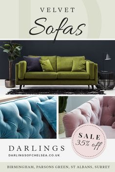 There is nothing more luxurious and inviting than a sumptuous velvet sofa. Exclusive sofa ranges & designer brands with Darlings. New Year Deals, Velvet Sofa, Smoking Room, Corner Sofa, Room Inspiration, Sofas, Love Seat, Living Room Decor, Zen
