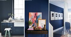 Grey may be the go-to shade for many a trendy decorator, but from indigo to ink, navy shades have fast become the fashion-forward alternative to those (dare we say it) omnipresent greys. We've called on our expert panel for advice on how to tap into the trend...
