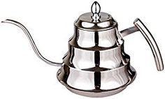 Christmas deals week King Liang Kitchen Stainless Steel Coffee Drip Kettle Tea Pot (Silver)
