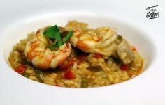 Hoy empezamos con un arroz meloso de atún rojo y gambas. Que tengáis una feliz semana! [Comparte y guardarás la receta en tu muro]