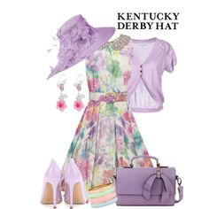 """Purple Derby Hat"" by maggie478 on Polyvore #IceCarats"