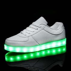 2017 Luminous neon Led light Shoes adults Women Flat shoes Glowing USB Charging Light chaussure lumineuse basket female Shoes