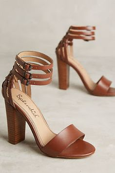 Three ankle straps because these Splendid Jena Heels are almost too much to handle. High Heel Boots, Shoe Boots, High Heels, Shoes Heels, Pumps, Sandal Heels, Pretty Shoes, Cute Shoes, Me Too Shoes