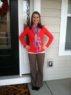 LaForce Be With You - What I Wore orange sweater