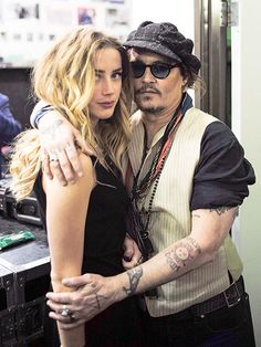 "Johnny Depp & Amber Heard's Reel-to-Real Romance | FORMING A FAMILY | Since their marriage, Amber has gained two step-kids in Lily-Rose and Jack, Johnny's children with former partner Vanessa Paradis. She opened up to Marie Claire about the two teens, saying, ""[It's] an honor and the greatest, most surprising gift I have ever received in my life. I feel new flavors that I didn't know existed. New colors that I didn't know existed have been added to my life. I'm so happy."""