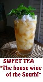Sweet Tea~~~House Wine of the South. When life gives you lemons. squeeze them in sweet tea; and thank God you were born a southern girl. (The Southern Lady Cooks) Southern Sweet Tea, Southern Ladies, Southern Comfort, Southern Style, Southern Charm, Southern Pride, Southern Hospitality, Good Food, Yummy Food