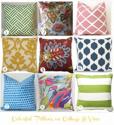 Affordable Finds:  Colorful Spring Pillows