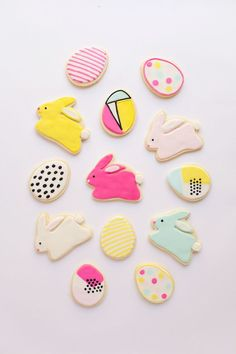 Modern Easter Cookies from tellloveandparty.com