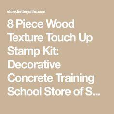 8 Piece Wood Texture Touch Up Stamp Kit