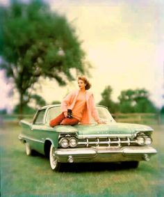 COLOUR PHOTOGRAPHS OF FASHION AND CARS, 1950S, BY JOHN RAWLINGS