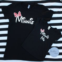 Mommy-and-me Minnie Shirts Matching Shirts by lalaTHREADSshop