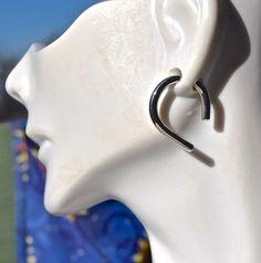 Sterling Silver 10 Gauge Hoop Earrings by SilverSunStudio on Etsy