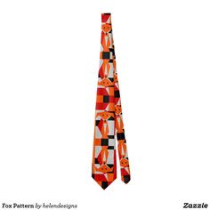 Fox Pattern Tie - animal gift ideas animals and pets diy customize Geometric Fox, Fox Pattern, Diy Stuffed Animals, Pet Gifts, Animals And Pets, Tie, Gift Ideas, Guys, Cravat Tie