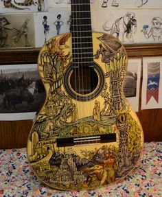 This Lord of the Rings Guitar is Incredible [pic]