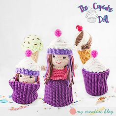 Ravelry: Cupcake Topsy-Turvy Doll pattern by Heather Boyer