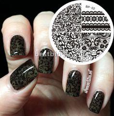 Born Pretty Chic Lace Pattern Nail ART Stamp Stamping Plates Image Design 02 | eBay