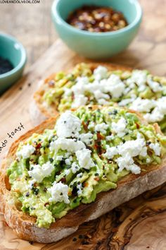 Goat Cheese and Avocado Toast  Loveandoliveoil.com