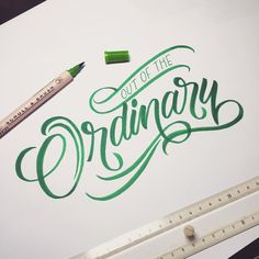 Out of the Ordinary! #handlettering #lettering #typematters #typography #typographyinspired #type #thedailytype #typedesign #typeverything #goodtype #calligritype #typetopia #typeworship #typespot #thedesigntip #typegang #artoftype #typostrate #TY_CA #ligaturecollective #script #calligraphy #brushpen #brushscript #kuretake by typo_steve