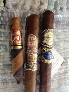 Three cigars out of my cigar humidor.