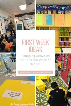 6 Things to Remember for the First Week of School · The Simply Organized Teacher