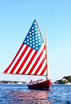Sailing near Edgartown on Martha's Vineyard, Massachusetts