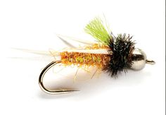 This looks like an amazing attractor pattern. Josh's White Lightning.  It's Prince Nymph-like—designed with white biot wings, peacock herl, ice dubbing, and a bead. How could one go wrong with those ingredients of success?