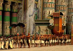 Opet Festival at Karnak one of the most important annual festivals in ancient Egypt - Opet Festival at Karnak is a limited Edition Giclee print.
