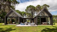 Matarangi Cabins is an award-winning bach with a difference Cabin Design, House Design, Cedar Cladding, Modern Barn House, Cabin House Plans, Shed Homes, Construction, Architect Design, Modern Architecture