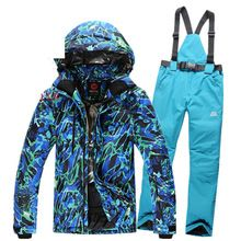 US $94.87 Waterproof Men Ski Suit Thicken Snow Board Jackets Chaqueta Esqui Hombre Ski Clothing Male Snowboard Pants Warm Snow Trousers. Aliexpress product