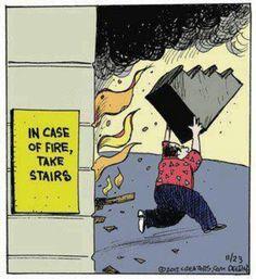 I love literal humor.