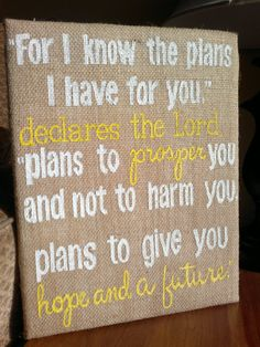 16 X 20 CUSTOM Burlap Canvas sign bible by Instinct2create