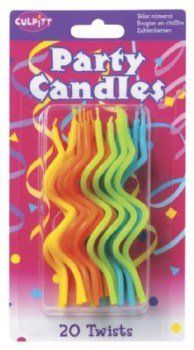 Amazon.com: Twists Neon Candles Party Accessory: Toys & Games