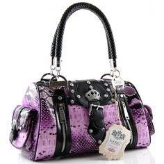 Image detail for -Home › Handbags › Shoulder Bags › LYDC Bags Animal Print Purple ...