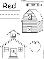 Worksheets Preschool Worksheets For The Color Red colors red and book on pinterest