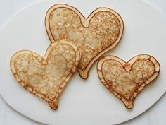 The Heart of the Batter : These heart-shaped hotcakes take breakfast in bed to a new level. Think of a squeeze bottle filled with batter as your kitchen paintbrush: Squirt a heart outline on a hot griddle, let it start to set, and then flood it with more batter for charming less-than-perfect hotcakes.