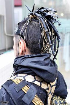 Insane Cyberpunk Hair, futuristic fashion, cyber fashion, futuristic look, futuristic boy, cyberpunk, cyber punk, cyber hair, future fashion by FuturisticNews