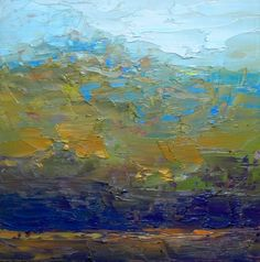 Blue Mountain - Ruth Andre, painting by artist Ruth Andre