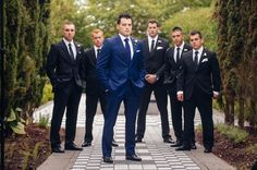 black and blue groomsmen - Google Search