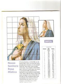Nossa Senhora da Rosa Mística para bordar ~ Gráficos ponto cruz da drica
