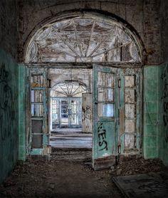 Will these doors ever be closed again?  Beelitz Heilstätten, located in Beelitz, Brandenburg (Germany).