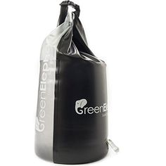 Solar Shower Dry Bag - 5 Gallon PVC Portable Shower Bag & Waterproof Dry Bag with Transparent Panel for Camping, Emergency Preparedness, More + FREE Bonus Rope by Green Elephant Solar Shower, Solar Heater, Emergency Preparedness, Beach Trip, Elephant, Hiking, Camping, Tote Bag, Bags