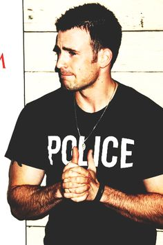 Chris Evans you have the right to remain sexy.. and an attorney. just had to throw that in there.
