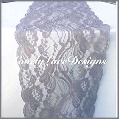 """GRAY/SILVER Weddings! Lace Table Runner, 3ft-10ft long  x 7""""wide/Overlay/Wedding Decor/Tabletop decor/ Weddings/ Event Decoration by LovelyLaceDesigns on Etsy https://www.etsy.com/listing/192172543/graysilver-weddings-lace-table-runner"""