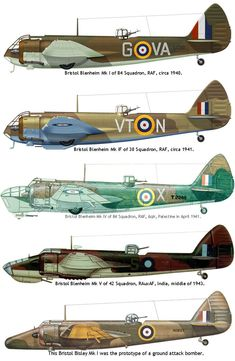 The Bristol Blenheim was a British light bomber aircraft designed and built by the Bristol Aeroplane Company that was used extensively in the early days of. Navy Aircraft, Ww2 Aircraft, Military Aircraft, Bristol Blenheim, Fighting Plane, Bomber Plane, Air Fighter, Aircraft Painting, Ww2 Planes