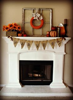 Give Me the Simple Life: Fall Mantel 2012