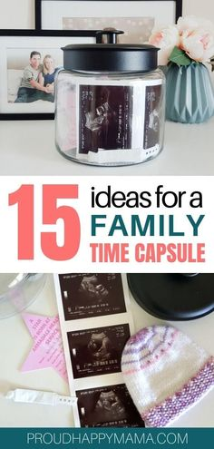 Create a kids time capsule with your family! From birthday time capsule to time capsule ideas for baby. Find 15 great time capsule ideas to inspire you! Family Memories, Sweet Memories, Family Christmas, Christmas Time, Christmas Ideas, Time Capsule Kids, Baby Blessing, Make A Family, Quotes About Motherhood