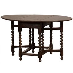 George III period oak drop leaf table with a drawer from England c.1790  /  $4,484