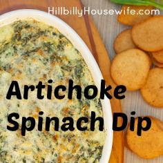 Artichoke and Spinach Dip | Hillbilly Housewife