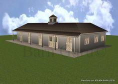 4 Stall Horse Barn Plan